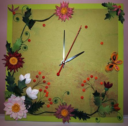 Часы из квиллинга