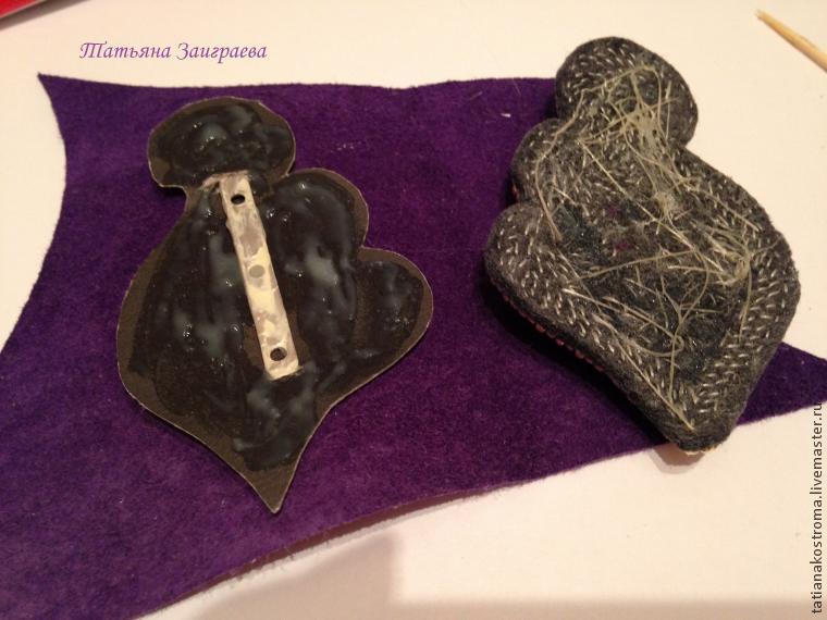 Вышиваем бисером брошь в осенних тонах, фото № 36