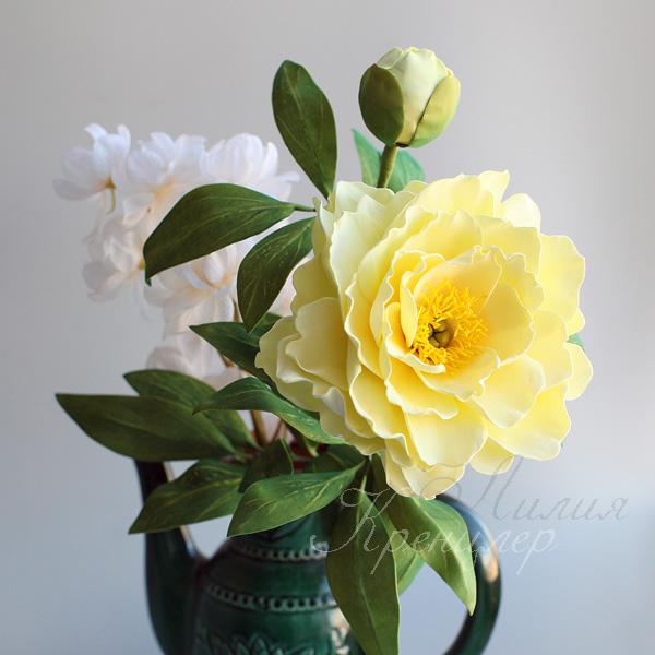 пион, пион из фоамирана, мастер-класс, мастер-класс в москве, цветы из фоамирана