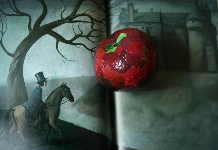 яблоки, папье-маше, новинка, белоснежка, halloween