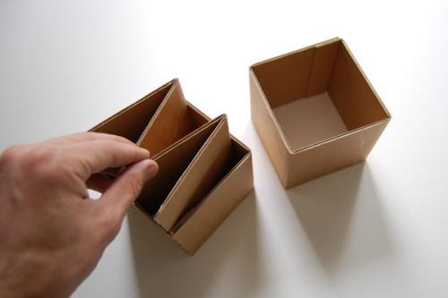 Своими руками из картона кубик