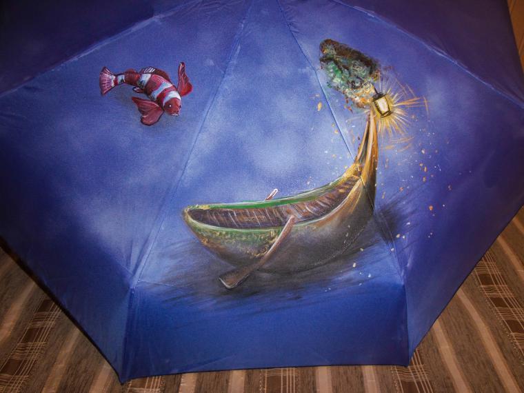 женский зонт, зонт оригинальный, зонт с рисунком