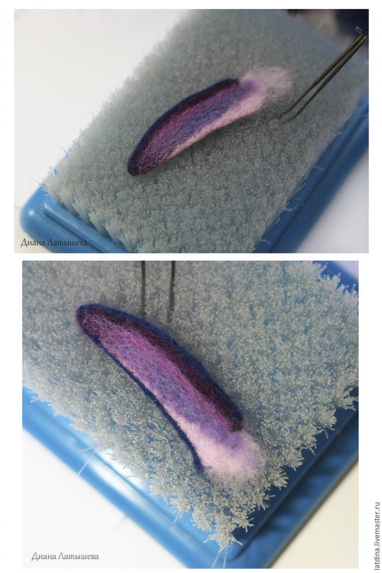 схема крыла птички крючком