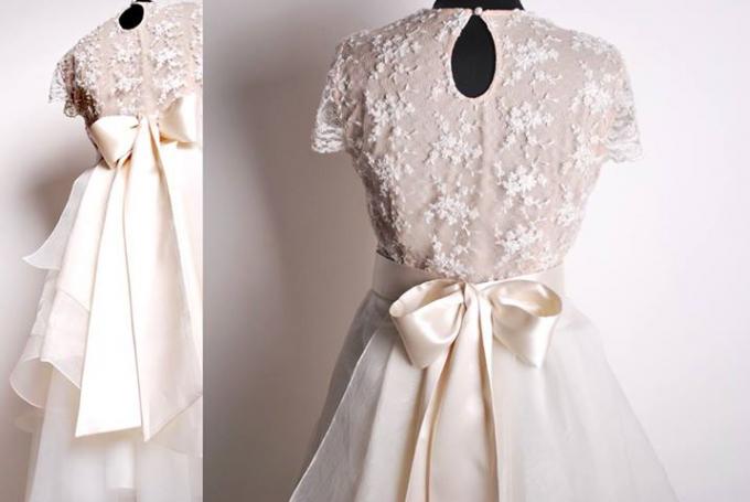 Как сшить красивый бант на платье
