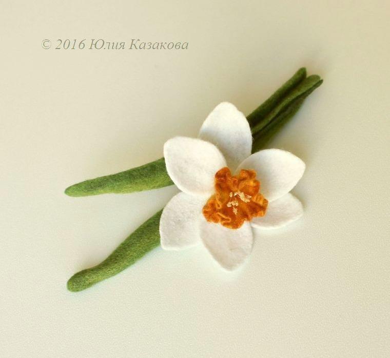 войлок, цветы, цветы ручной работы, брошь-цветок, мокрое валяние