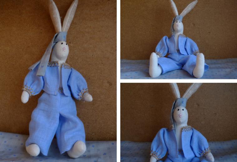 заяц, зайка невеста, игрушка ручной работы