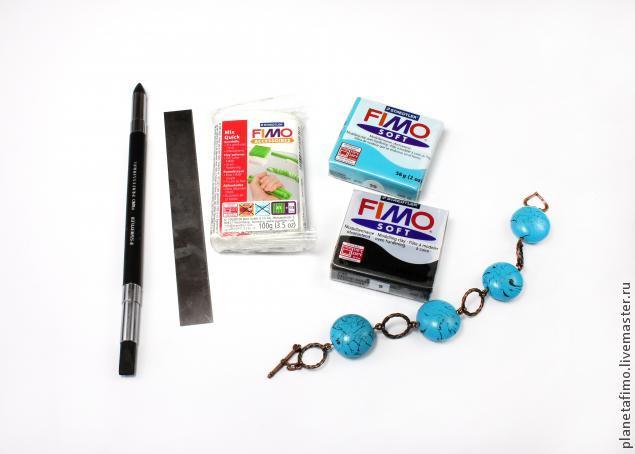 fimo, имитация бирюзы, лепка из пластики, лепка из полимерной глины, мк по пластике, видеоурок, мастер-класс по лепке, имитация из пластики, бусины ручной работы, бусины из пластики
