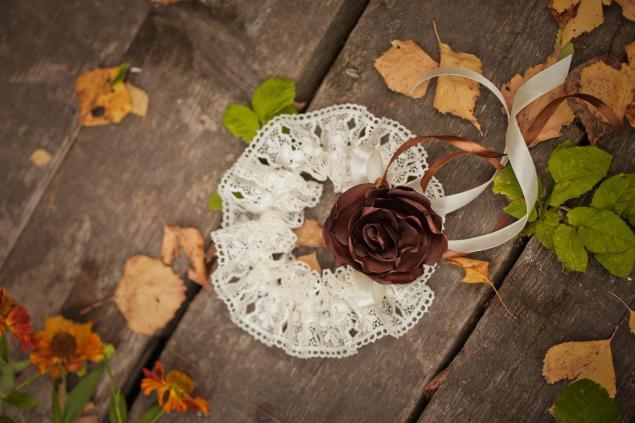 осенняя свадьба, подушечка для колец, свадебные цветы
