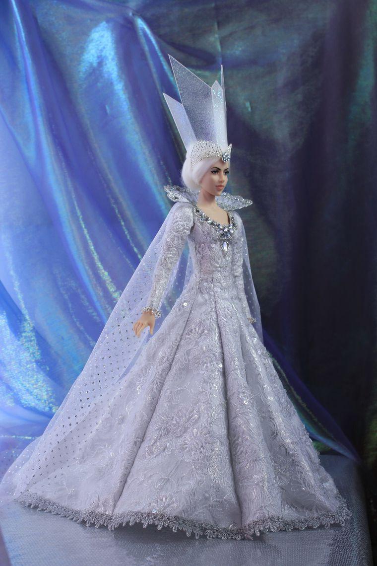 платье снежной королевы своими руками фото что