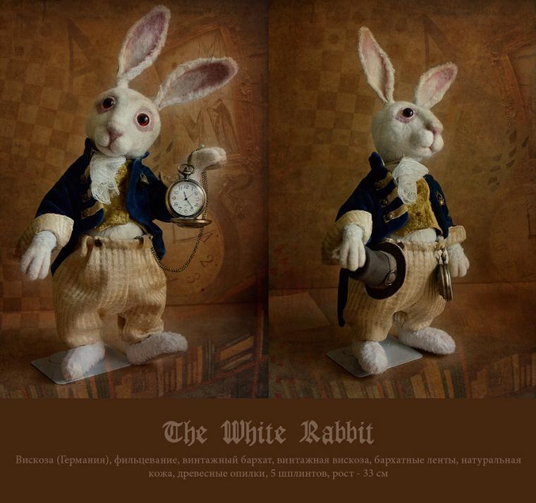 кролик тедди, алиса в стране чудес, белый кролик, винтаж