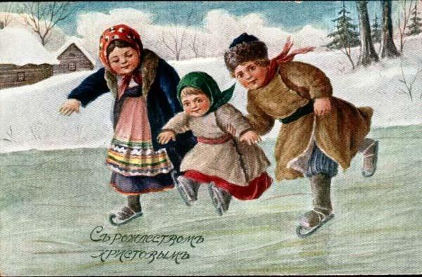 Старинные рождественские открытки: 35 трогательных изображений, фото № 27
