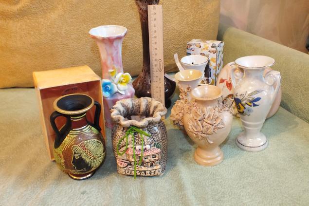 отдам, вазочки, керамика