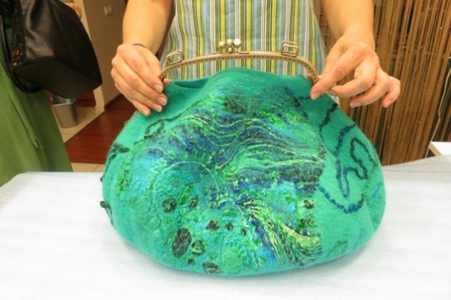 Фотоотчет по валянию сумки с мастером Ириной Бобковой., фото № 30