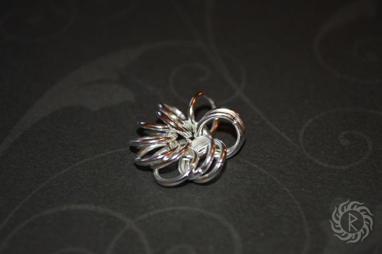 Кольчужный цветок с бусинами. Мастер-класс, фото № 2