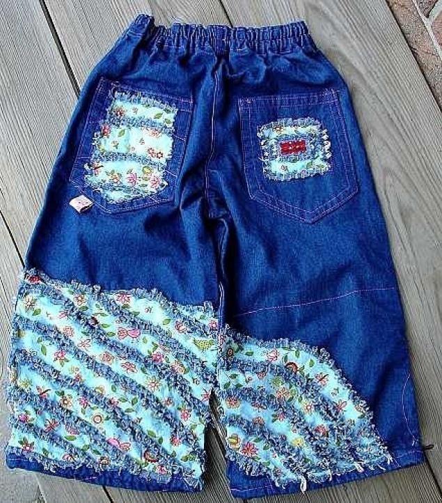 Детские джинсы своими руками фото