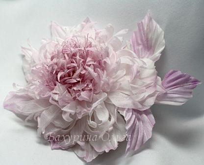 цветы, цветы из ткани, цветы ручной работы, цветок, цветы из шелка, цветоделие, клематис, обучение, обучение цветоделию, браслет, брошь-цветок