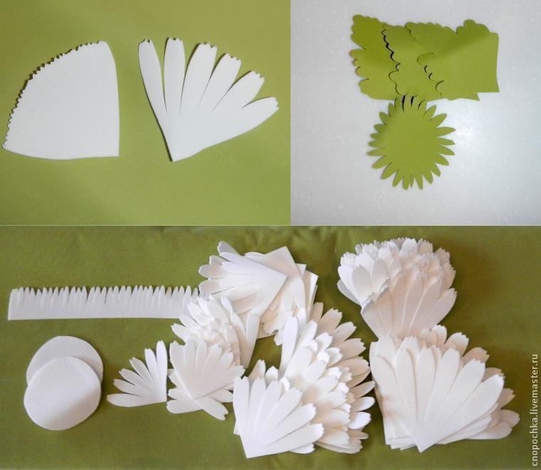 Хризантемы из фоамирана своими руками с пошаговым фото для начинающих схема 29