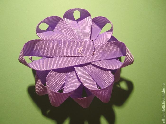 Собираем простой цветочек из ленты, фото № 20