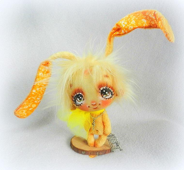 кукла, зайка, авторская игрушка