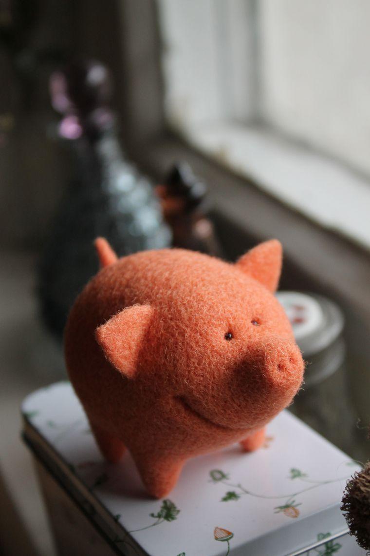 мастер-класс, мастер-класс по валянию, валяние, сухое валяние, сухое валяние игрушки, игрушка, фигурка, обучение в москве, москва, подарок, поросёнок, свин, свинка, валяный поросёнок