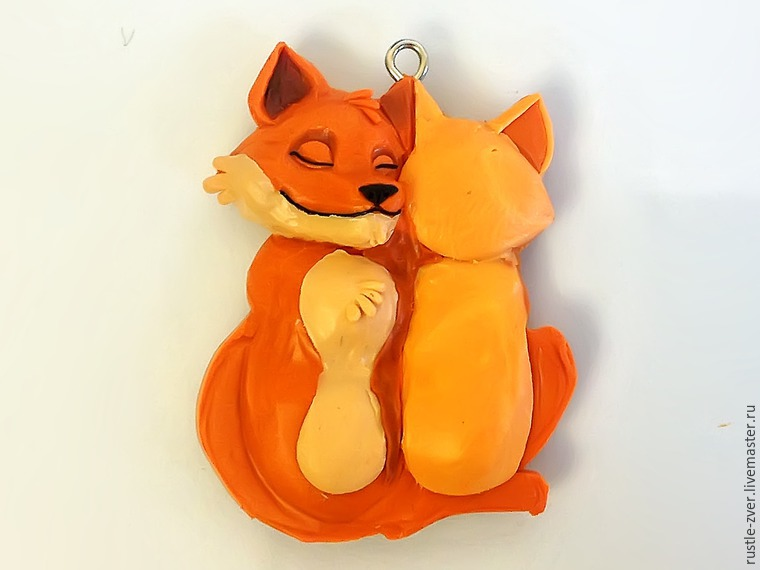 Modeling A Pendant Foxes in Love, фото № 18