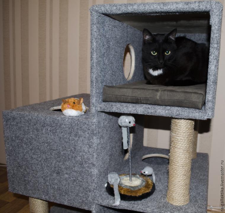 Простой кошкин дом своими руками 24