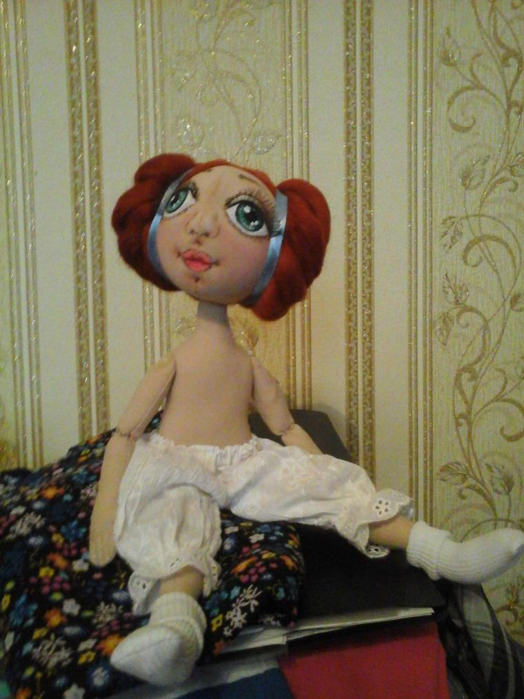 кукла ручной работы, тыквоголовка, коллекционная кукла