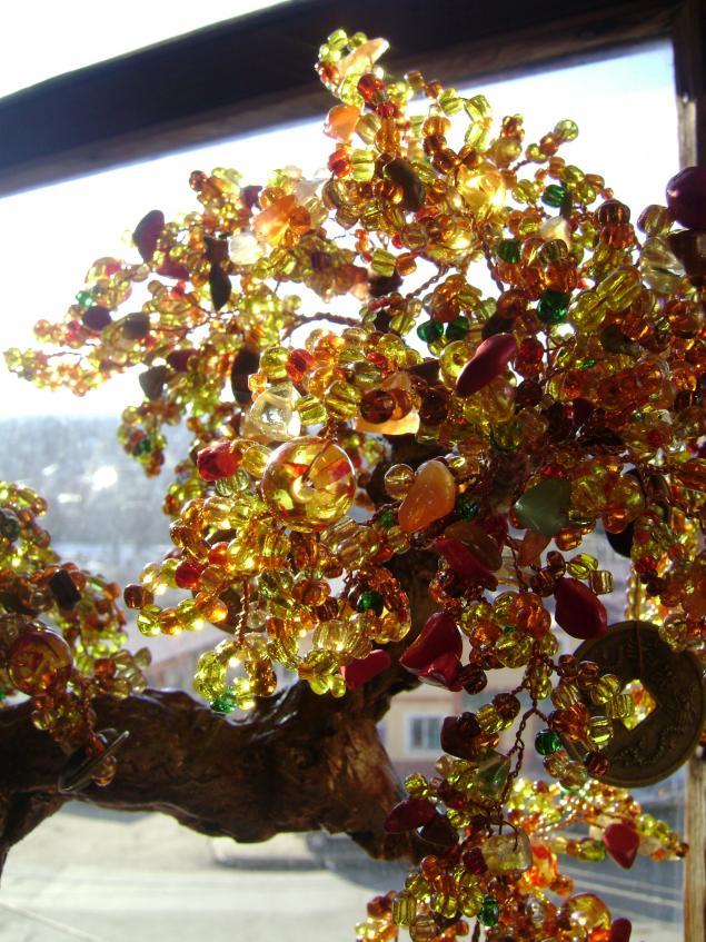 фото, дерево из бисера