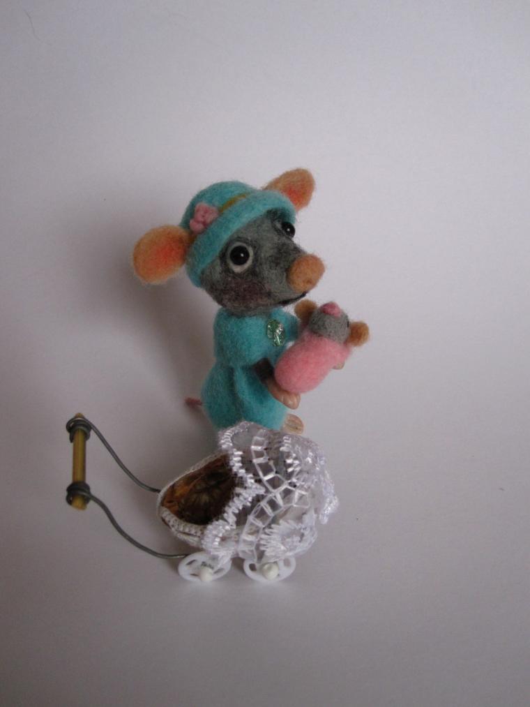 игрушки ручной работы, светильник, мышка, авторская работа, шерстяная акварель