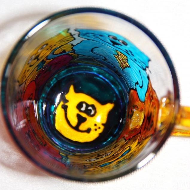 Коты рулят!, коты, новый год, подарок, роспись по стеклу, кружка коты, тарелка коты, вдохновинки, стекло, новинки