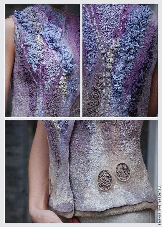 валяние, нунофелтинг, мокрое валяние, женская одежда, креатив, магия