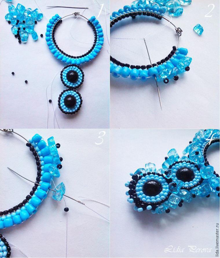 Как сделать кольца серьги