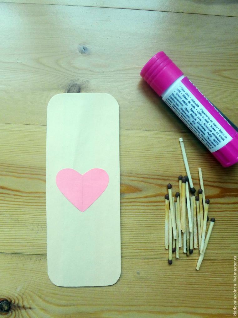 сердце, простая поделка, подарок на 8 марта