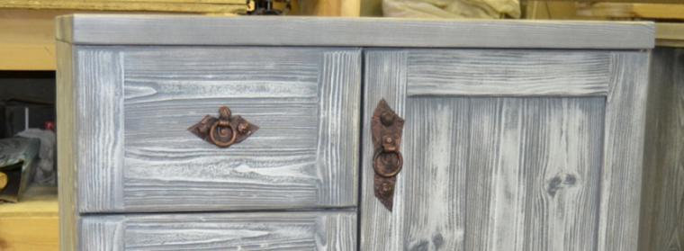 деревянный, прованский стиль