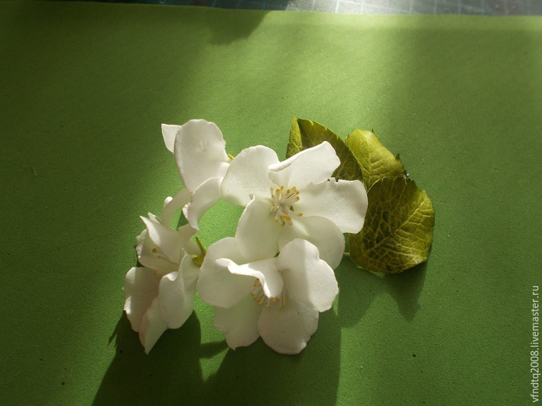 Цветы яблони из фоамирана своими руками с пошаговым фото для начинающих 38