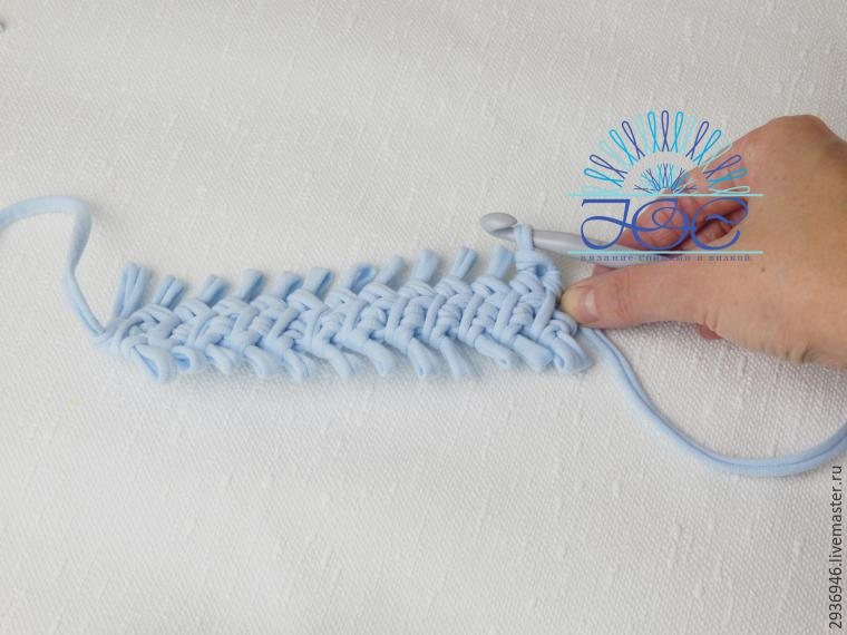 knitting on a fork