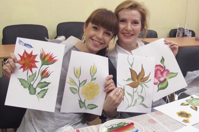 мастер-класс по росписи, мастер класс