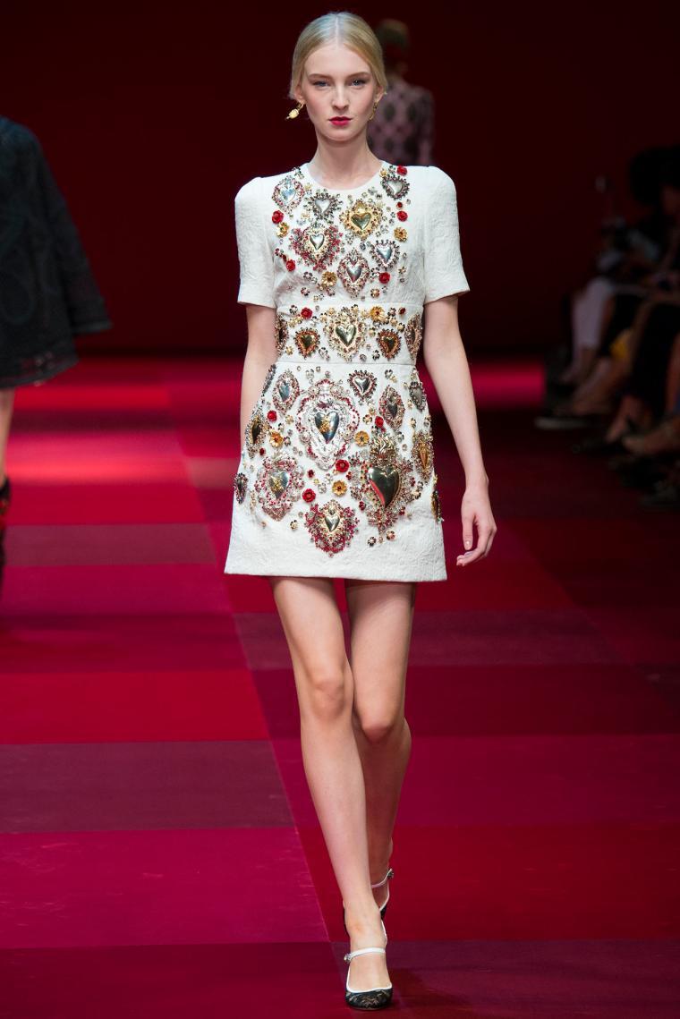 Платье с вышивкой dolce gabbana