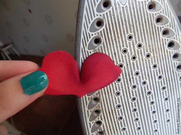 Реалистичная роза из фоамирана своими руками, фото № 9
