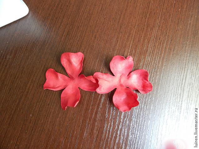Реалистичная роза из фоамирана своими руками, фото № 8