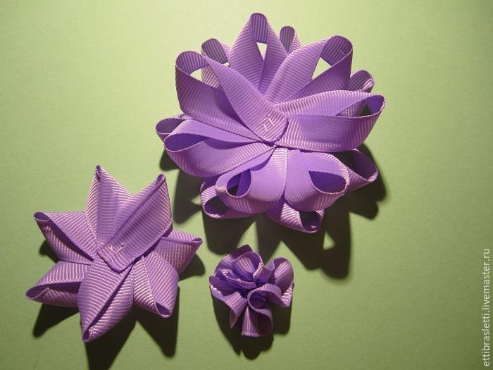 Собираем простой цветочек из ленты, фото № 18