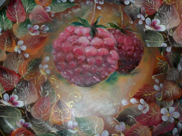 кемеровская роспись, осень за окном