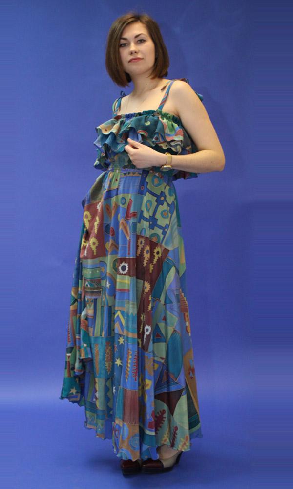 платье, шелковое платье