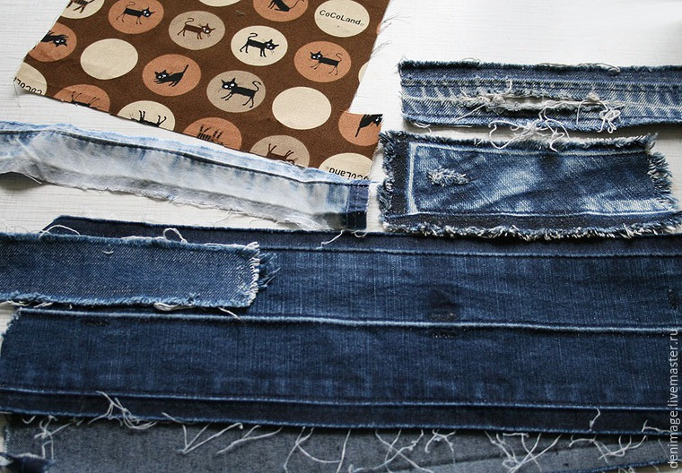 2a413c0fe41 Шьем оригинальный джинсовый браслет – Ярмарка Мастеров