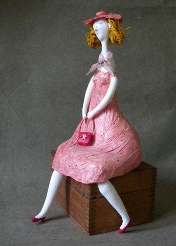 папье-маше, кукла ручной работы, кукла своими руками, кукла, кукла в подарок