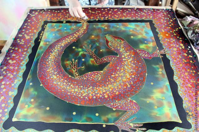 креативный подарок, роспись по ткани