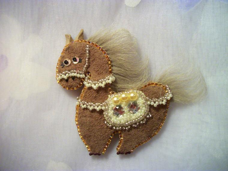 украшения ручной работы, конь