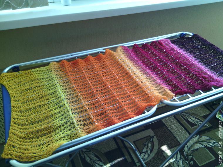 Красим старый шарф с помощью красителей для яиц, фото № 11