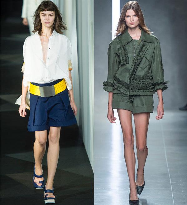 Модные  шорты с отворотами весна-лето 2014 от Acne и Bottega Veneta