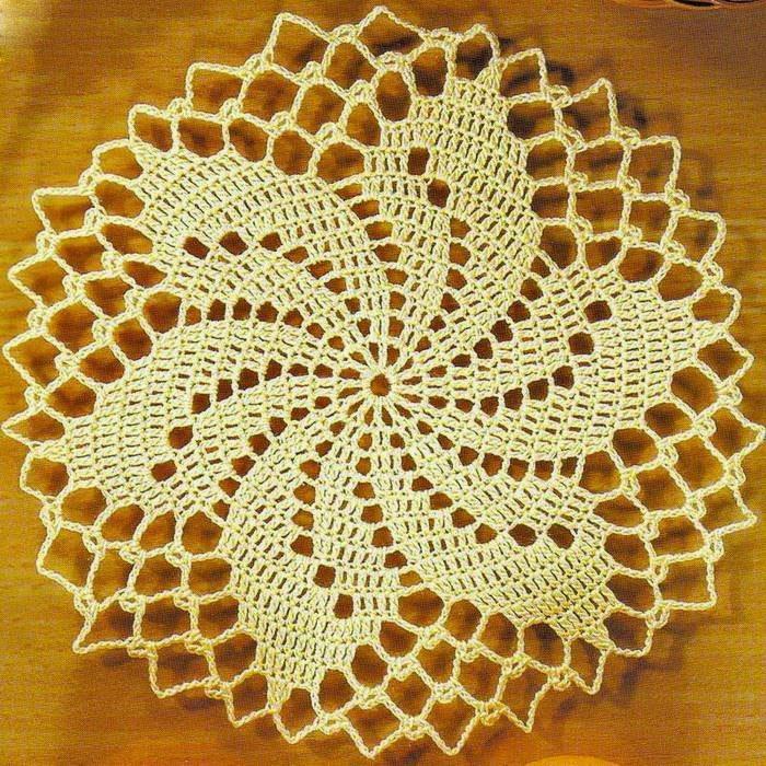 Отличное занятие для выходного дня: 20 схем для вязания салфеток крючком, фото № 17